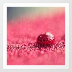 Red Drop Art Print