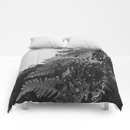 Colorless Ferns Comforters