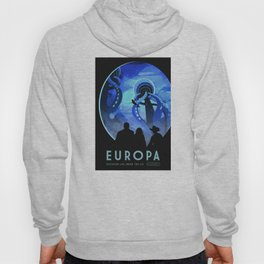 Europa Space Travel Retro Art Hoody