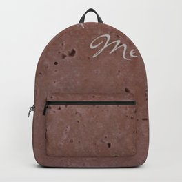 Merlot Wine Red Travertine - Rustic - Rustic Glam Backpack
