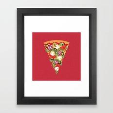 PIZZA POWER - PEPPERONI Framed Art Print