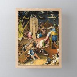 The Garden of Earthly Delights - Bosch - Hell Bird Man Detail Framed Mini Art Print