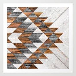 Urban Tribal Pattern No.12 - Aztec - Wood Art Print