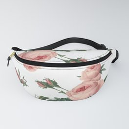 Rose Garden Butterfly Pink on White Fanny Pack