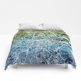 Dublin Ireland City Map Comforters