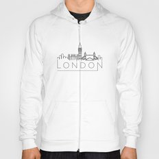 Linear London Skyline Design Hoody