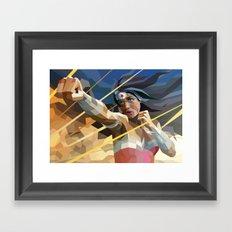 WonderWoman Framed Art Print