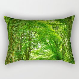 Tunnel Of Trees Rectangular Pillow