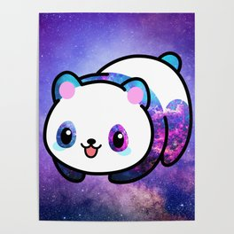 Kawaii Galactic Mighty Panda Poster