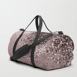 Sparkling Mauve Lady Glitter #1 #shiny #decor #art #society6 Duffle Bag