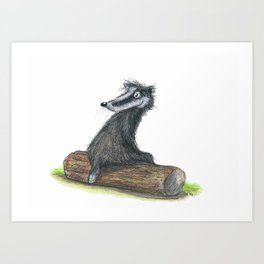 Badgers Date Art Print