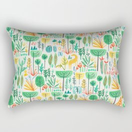 Jungle life with golden unicorn Rectangular Pillow