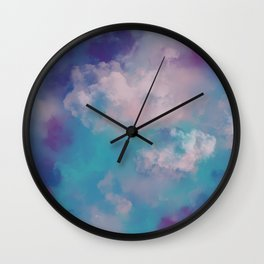 Smoke bomb- abstract digital art Wall Clock