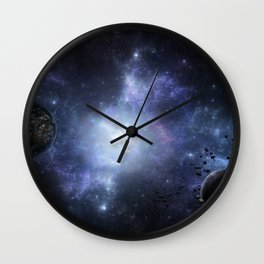 Vibrant Space Wall Clock