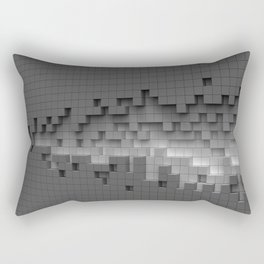 Grey cubes mosaic - torn wall Rectangular Pillow