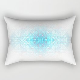 Techno-Lattice: Summer Skies Rectangular Pillow