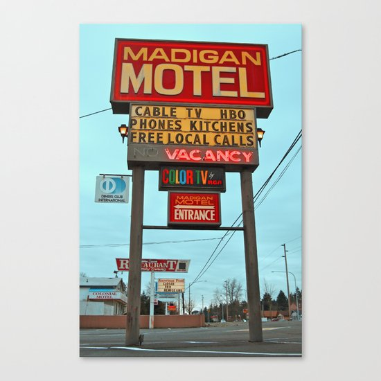 Motel Americana Canvas Print