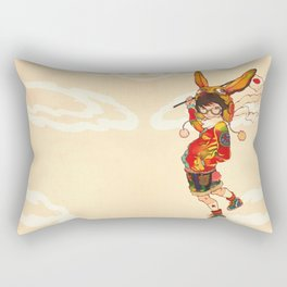 The land of the rising zine Rectangular Pillow