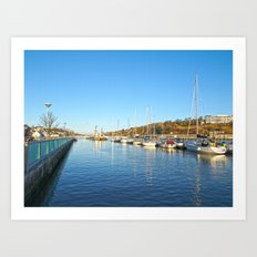 Waterford City Quayside  Art Print