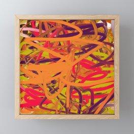 Orange Purple Green & Pink Abstract Framed Mini Art Print