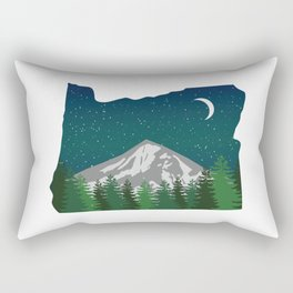 Oregon Mountain on a Clear Night Rectangular Pillow