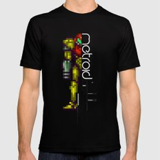 Metroid MEDIUM Mens Fitted Tee Black