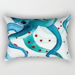 Happy Octopus Rectangular Pillow