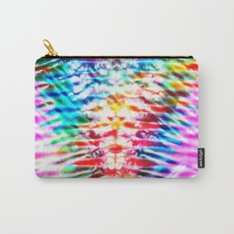 Crumpled Rainbow V Tie Dye Carry-All Pouch