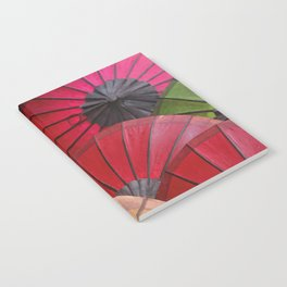 Paper Colored Umbrellas from Laos Notebook