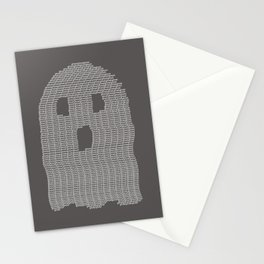 Ghost Typography Stationery Cards