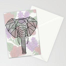 Geo Elephant Stationery Cards