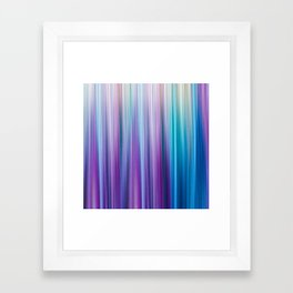 Abstract Purple and Teal Gradient Stripes Pattern Framed Art Print