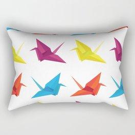 Origami Cranes Pattern Rectangular Pillow