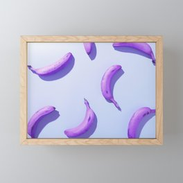 Violet banana Framed Mini Art Print