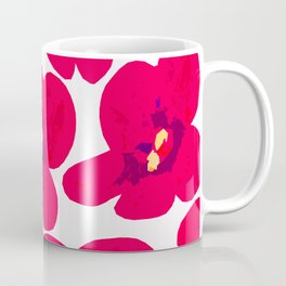 Red Retro Flowers #decor #society6 #buyart Coffee Mug
