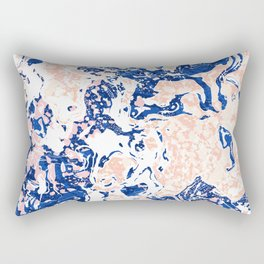 Abstract Marble Rectangular Pillow