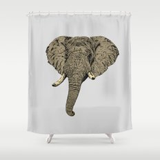 Elephant Head Shower Curtain