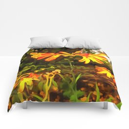 Orange Day-lily. (Painting) Comforters