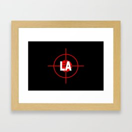 I H8 LA Framed Art Print