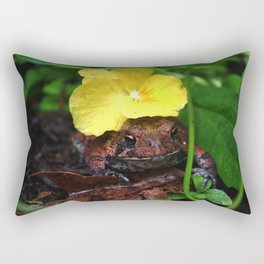 Flower Hat Rectangular Pillow