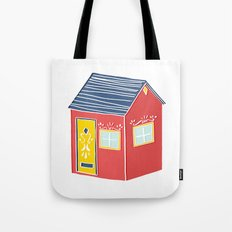 Little Red Scandinavian House Tote Bag