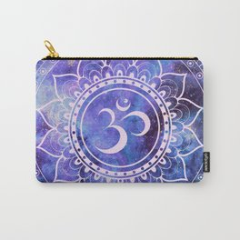 Om Mandala Purple Lavender Blue Galaxy Carry-All Pouch