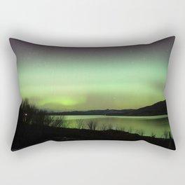 Aurora Borealis to the North - Isle of Skye Rectangular Pillow