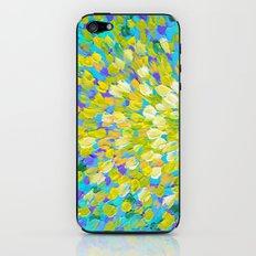 SPLASH 2 - Bright Bold Ocean Waves Beach Ripple Turquoise Aqua Lime Lemon Colorful Rainbow Wow iPhone & iPod Skin
