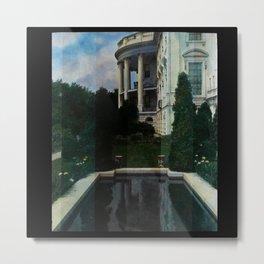 White House Lantern Slide Remastered Metal Print