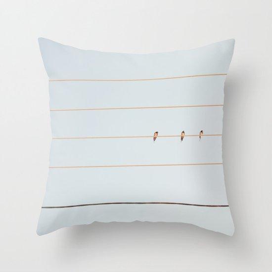 The Three Throw Pillow