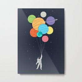 Planet Balloons Metal Print