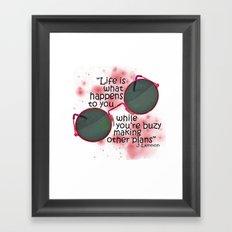 Life By Lennon Framed Art Print