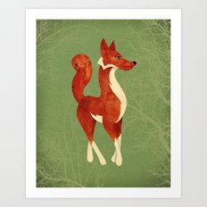 Foxing Around Art Print