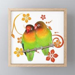 Two lovebirds Framed Mini Art Print